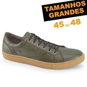 Sapatênis Probs7 Snap Verde Militar Tamanhos 45 46 47 48