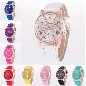 133846b0254 Relógio De Pulso Elegante De Couro Algarismos Romanos - Relógios De ...