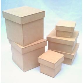 Caja Mdf 10x10x10 Con Tapa Ksj1