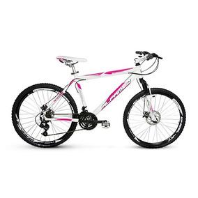 Bike Alfameq Stroll Feminina Rosa Aro 26 F Disco 21v