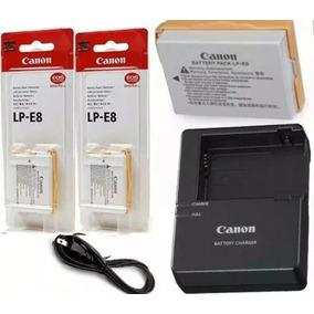 Kit 2 Baterias Canon Lp-e8 + Carregador Lc-e8 T3i T4i T5i