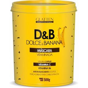 Dolce E Banana Máscara Vitaminada Glatten 500g