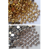 Meia Perola Chatom Dourado Ou Prata (3mm) 10pcts 3000pctotal
