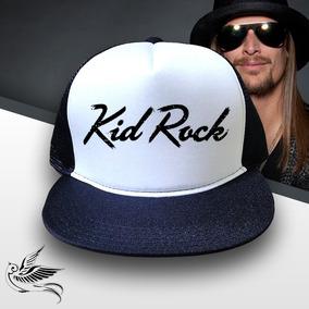 Boné Kid Rock Trucker Snapback Preto Aba Reta 3f32dcdd6c9