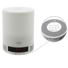 Luminária Led Portátil Noturna Bluetooth E Despertador Flc