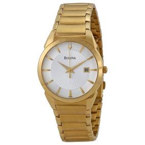 28011aa27bd Relógio Bulova Masculino Super Clássico Dourado Wb21605h