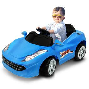 Carrinho Eletrico Infantil Speed Racer Azul 6v