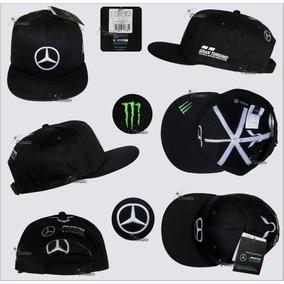 Gorra Plana Lewis Hamilton Negra Mercedes Amg F1 Linea 2018 6d4a3470208