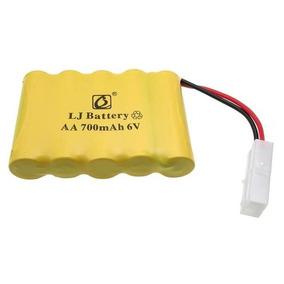 Bateria 6v 700mah Ni-cd Para Carrinhos Plug Tamya