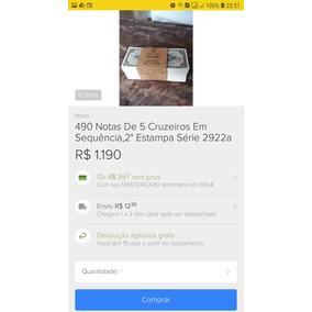Coleção De Cédulas De Cruzeiro Flor De Estampa Numismática