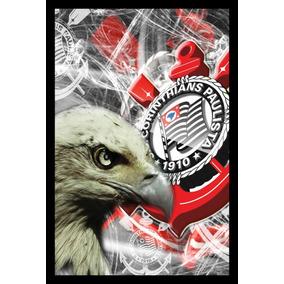 Quadro Decorativo Time Corinthians Arte Poster Moldurado