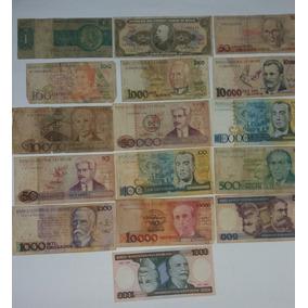 16 Cédulas De Dinheiro - Notas Antigas - Frete Grátis Cod07