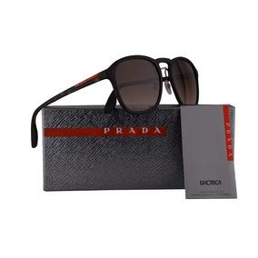 0d81619451866 Óculos De Sol Prada Pr09 Geometric Havana Blue - Óculos no Mercado ...