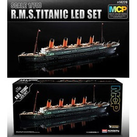 Academy Barco Titanic 1/700 Partes En Colores + Led Envios