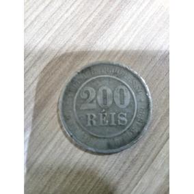 Moeda Rara De 200 Réis.moeda Antiga Ano De 1889 República