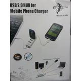 Hub Usb 2.0 3 Portas S-k01 E Carregador Usb Cabo