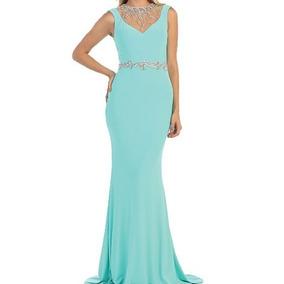 Vestido De Gala Color Aqua Mediana