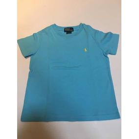Camiseta Manga Curta Polo Ralph Lauren Azul 3 Anos 120caf3d4c0