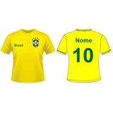 ad3cc2653e Camisa Seleção Brasileira Personalizada Copa Do Mundo 2018