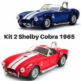 Promoção 2 Carrinho Coleção Shelby Cobra 427 S/c 1965 Ferro