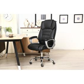 Cadeira Giratória Preta C/descanso P/braços - By-8-670