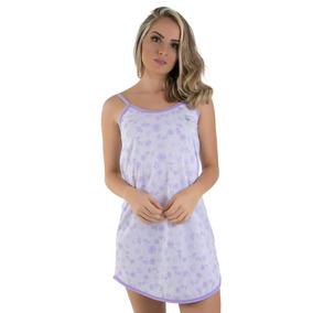 df7a4aed2 Kit 10 Camisola Em Malha Estampada Sensual Feminino Conforto