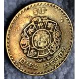Moneda $10 Pesos Mexico Monofasica 1998 Solo 1 Metal Prueba