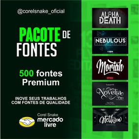 Pacote De Fontes // Corel Snake