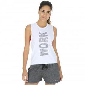 Camiseta Regata Oxer Work For It - Feminina - Cor Branco 74ab1762870