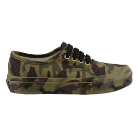 Tenis Vans Authentic Camuflaje Verde 17-22 Originales