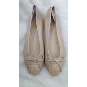 c35f5fe034 Sapatilha Chanel Feminino Sapatilhas - Sapatos Bege no Mercado Livre ...