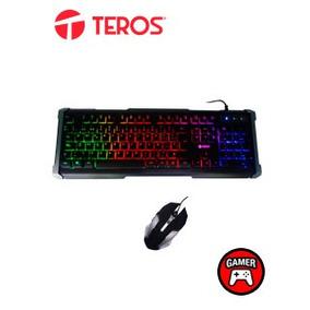 Te Kit Gaming Teclado Y Mouse Teros Te-cm5305, Usb, Acabado
