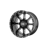 Serie Xd838 20x12 8x165.1 -44mm Borde De Rueda Negro / Fresa