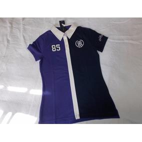 Camisa Polo Feminina Importada Tommy Hilfiger Bottonless - Calçados ... 96cb39ae1e1e0