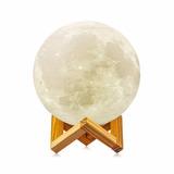 Lámpara Luna 3d - Recargable - 10 Y 20 Centímetros