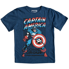 Playera Niño Capitan America Marvel The Avengers Comic