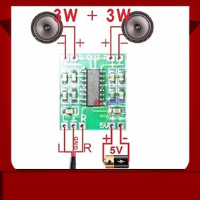 Módulo Amplificador Audio 3wx3w Para Proyectos Pam8403