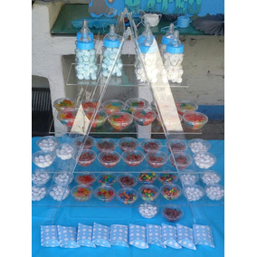 Base En Acrilico Para Cupcakes. Dulces En Forma De Escalera