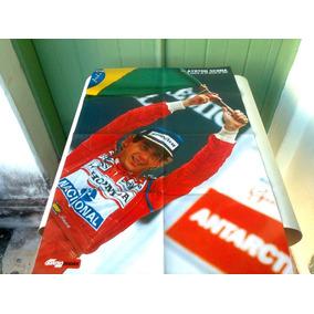Poster Duplo Airton Senna(1991/1992 )80x53 +veja Abril 2004
