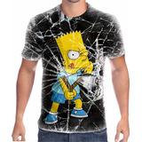 Camisa Camiseta Bart Simpson Cod 036