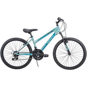 Huffy - Bicicleta Montañera 24 Alpine De 18 Velocidades