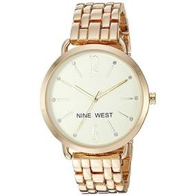 Nine West - Reloj De Pulsera Para Mujer Con Cristales Acent