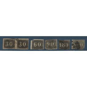 Selos Verticais 30,60,90,180,e 600 Réis Cotados A R$ 1383,00