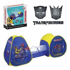 Barraca Túnel Toca C/100 Bolinhas 3em1 Transformers Infantil