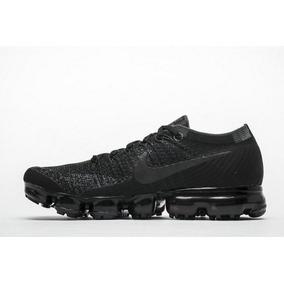 3c36eeaa8f267 Zapatillas Nike Vapormax Flyknit!! Hombre!! Triple Black!