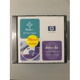Dvd+r Hp 8x 4.7 Gb, 120 Min. Paquete De 10 Slim Case