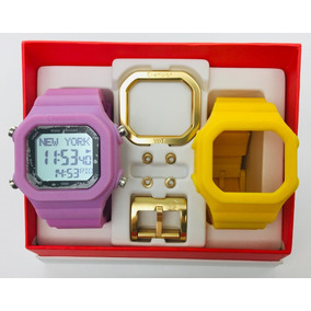 Relógio Champion Yot Kit Rosa E Amarelo Original Cp40180x