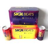 Kit 1 Caixa De Skol Beats Frost + 1 De Skol Beats Fire