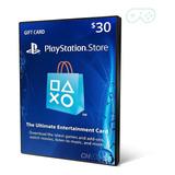 Playstation Network Card Cartão Psn $30 Dolares ($20+$10) Us