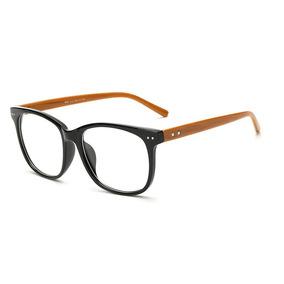 40b4384c7eb04 Armacao Oculo Feminino Quadrado Dourado - Óculos no Mercado Livre Brasil